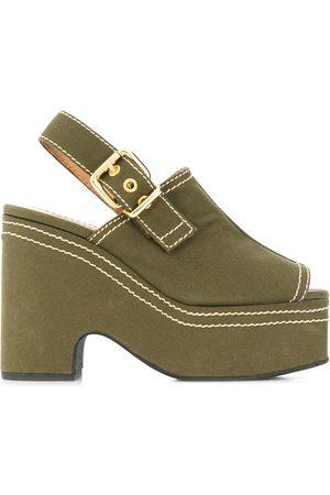 Marni Plateau-sandaler med kontrastsyning