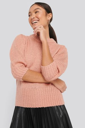 NA-KD Puff LS Round Neck Knitted Sweater