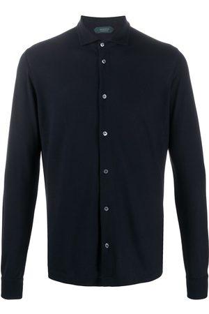 ZANONE Mænd Langærmede - Regular-fit cotton shirt