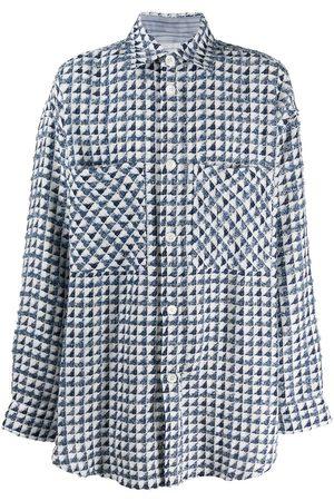 FAITH CONNEXION Oversize skjorte med geometrisk tryk