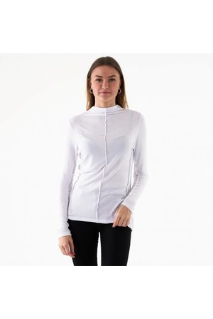 NA-KD Mock neck exposed seam top