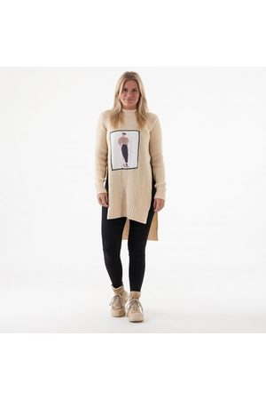 NA-KD Applique oversized sweater