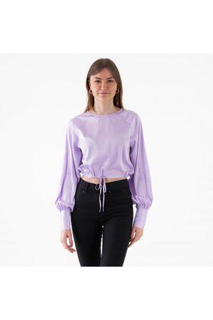 NA-KD Drawstring detail satin blouse