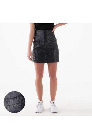 NA-KD Pu reptile mini skirt