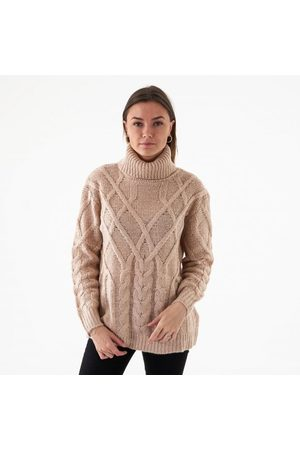 NA-KD Cable knit high neck sweater