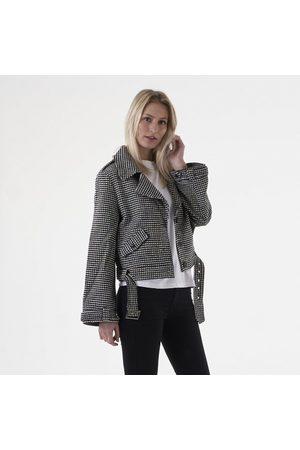 NA-KD Kvinder Bomberjakker - Check biker jacket