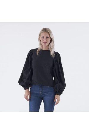 NA-KD Puff sleeve round neck top