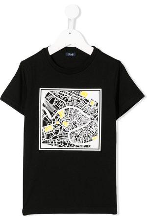 Il gufo Contrast print T-shirt