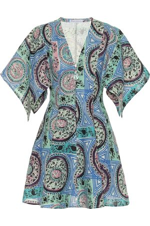 JW Anderson Printed linen minidress