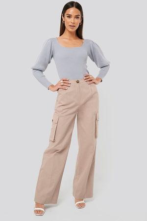 Misslisibell x NA-KD Kvinder Cargo bukser - Big Pocket Cargo Pants