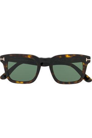 Tom Ford Firkantede solbriller med skildpaddeeffekt