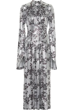 Paco rabanne Floral jersey maxi dress