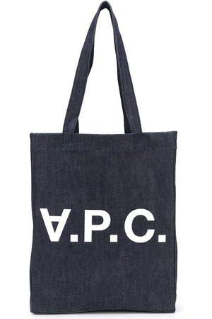 A.P.C. Tote i denim med logo