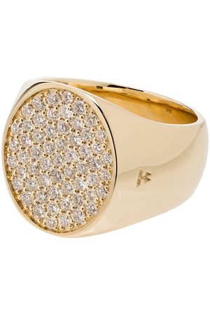 TOM WOOD Mænd Ringe - 9K yellow gold round diamond pinkie ring