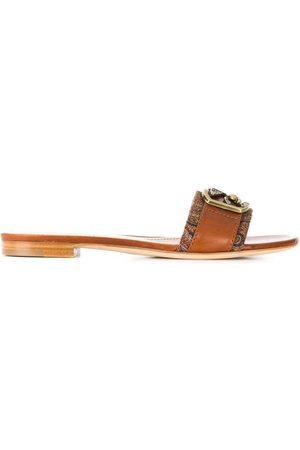 Etro Kvinder Sandaler - Pegasus plaque sandals