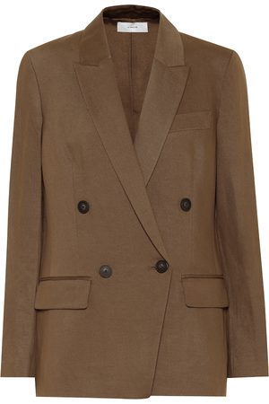 Vince Stretch cotton and linen blazer