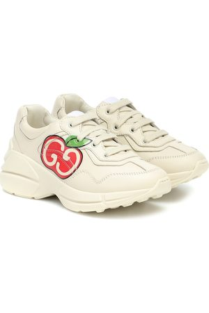 Gucci Rhyton leather sneakers