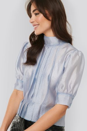 NA-KD Structured Organza Gathered Blouse