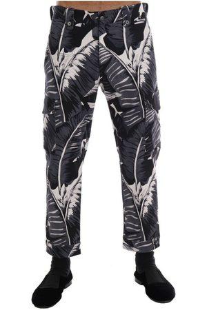Dolce & Gabbana Banana Leaf Cotton Pants