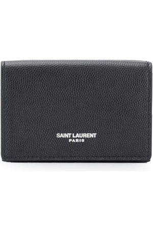 Saint Laurent Kortholder i grynet læder
