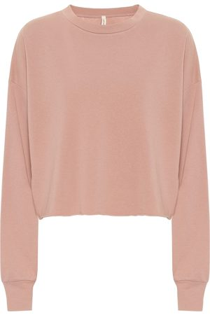 Lanston Sport Cropped cotton-blend sweater