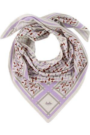 LALA BERLIN Tørklæder - Tørklæde - Triangle Trinity Confetti S - Lilac On Al