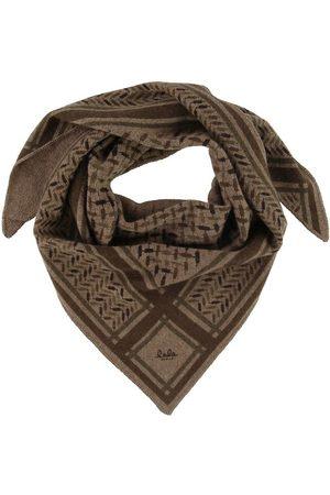 LALA BERLIN Tørklæder - Tørklæde - Triangle Trinity Confetti S - Chocolate O