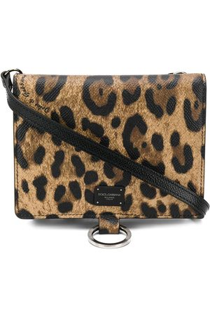 Dolce & Gabbana Mænd Skuldertasker - Leopard print shoulder bag