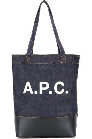 A.P.C Tote i denim med logotryk