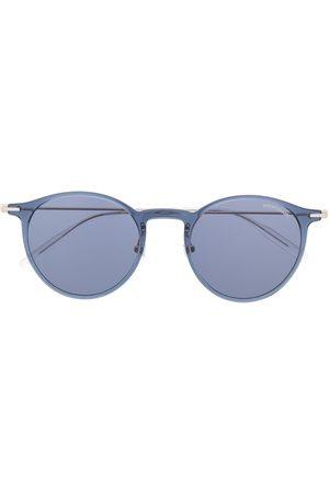 Mont Blanc Mænd Solbriller - Transparente solbriller med rundt stel