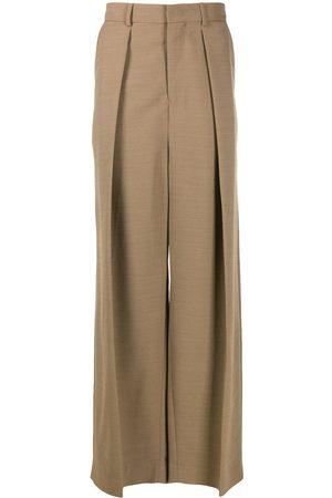 Ami Plisserede bukser med brede ben