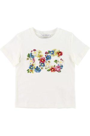 Dolce & Gabbana Kortærmede - T-shirt - Blooming - m. Blomster/Logo