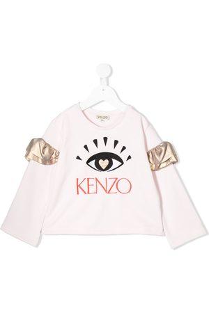 Kenzo Skjorte med flæseærmer og øjebroderi