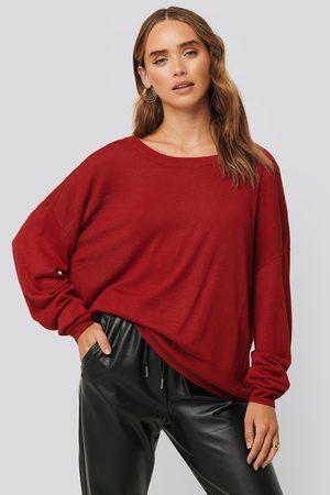 NA-KD Kvinder Strik - Fine Knit Drop Hem Sweater