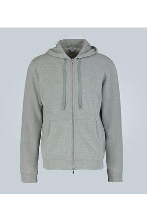 Sunspel Cotton-jersey hooded sweatshirt