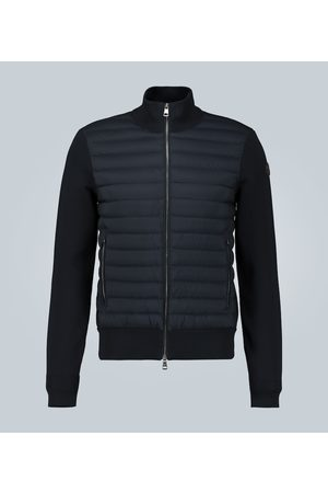 Moncler Mænd Cardigans - Tricot cardigan with down-filled front