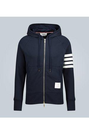 Thom Browne Striped-detail cotton hoodie