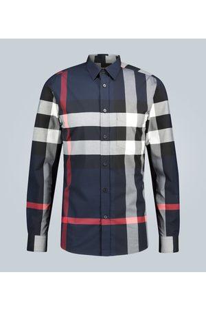 Burberry Check stretch-cotton shirt