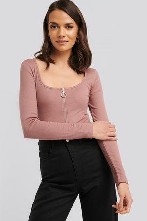 NA-KD Kvinder Toppe - Long Sleeve Zipped Top