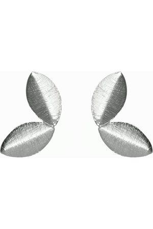 Dinari Jewels Two Tiny Leaf Earrings