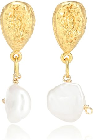 Alighieri Kvinder Øreringe & Ørestikker - Exclusive to Mytheresa – The Late Night Twinkling 24kt gold-plated earrings with pearls