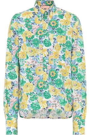 Plan C Floral cotton poplin shirt