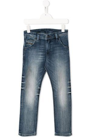 Diesel Jeans med smalle ben og slitageeffekt