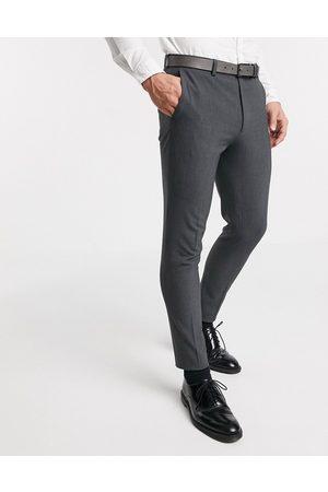 ASOS Mænd Habitbukser - Super Skinny-habitbukser i gråt strækbart stof