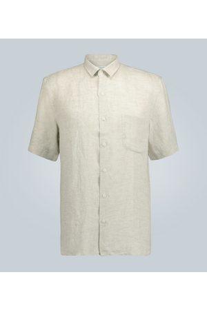 Sunspel Mænd Kortærmede - Short-sleeved linen shirt