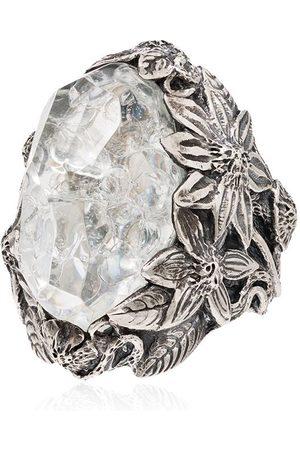 Lyly Erlandsson Large Winter ring i large med sølvkrystal