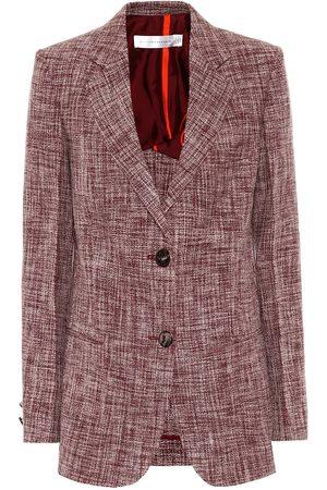 Victoria Beckham Linen and wool-blend blazer