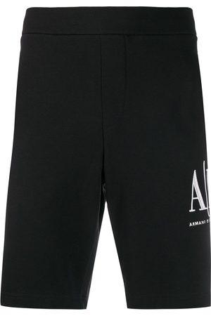 Armani Exchange Joggingbukser med broderet logo