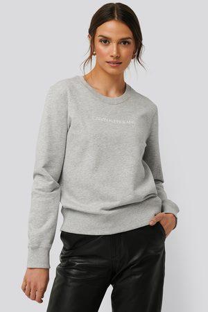 Calvin Klein Kvinder Sweatshirts - Institutional Regular Crew Neck Sweater