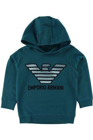 Emporio Armani Sweatshirts - Hættetrøje - Petroleum m. Logo
